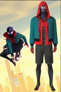 Spiderman: Into The Spider-Verse Miles Morales Cosplay Costume New Style