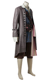 Pirates Of The Caribbean: Dead Men Tell No Tales Captain Jack Sparrow Cosplay Costume (Including Wig And Not Boot)