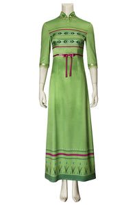 Disney Frozen 2 Anna Green Cosplay Costume