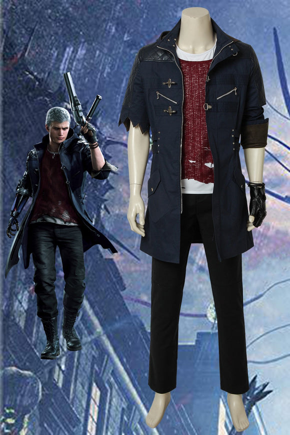 Devil May Cry 5 Nero Black Cosplay Costume