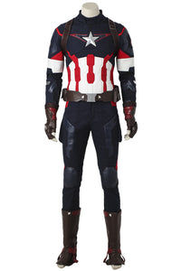 Marvel's The Avengers 2 Age Of Ultron Captain America Steve Rogers Cosplay Costume
