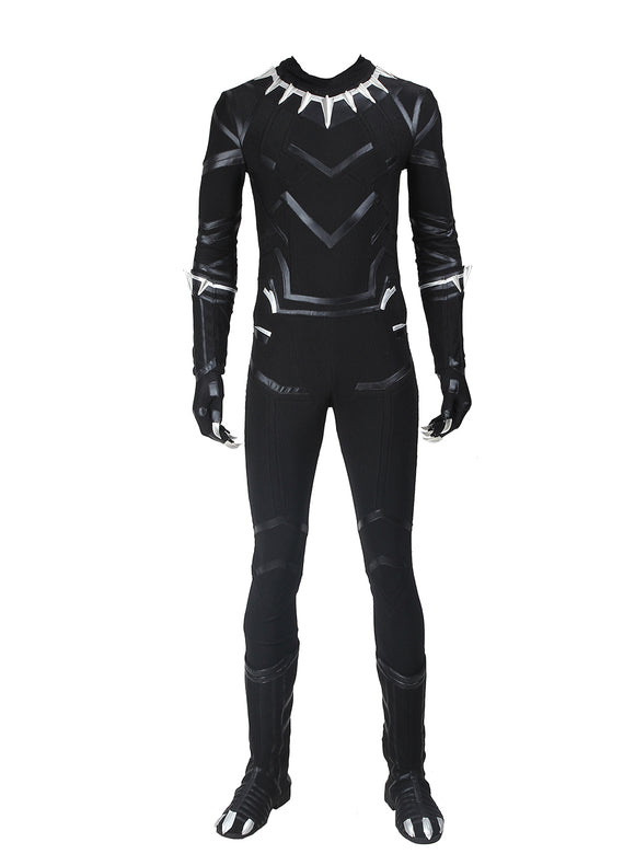 Marvel Captain America: Civil War Black Panther T'Challa Cosplay Costume