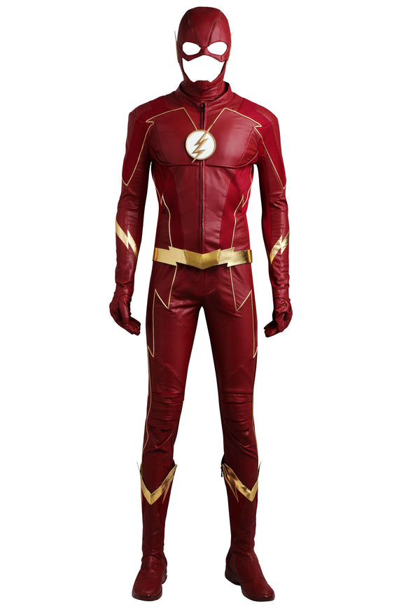 The Flash Season 4 Barry Allen Cosplay Costume With Boots