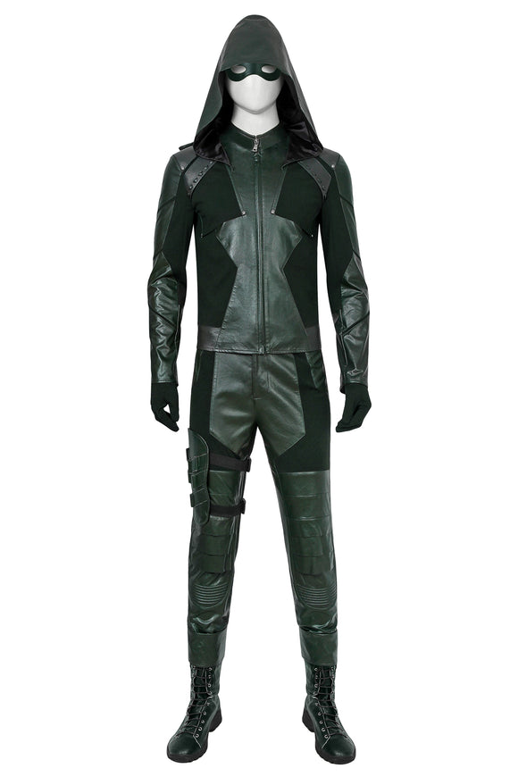 Green Arrow Season 8 Oliver Queen Cosplay Costume