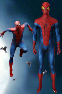 New The Amazing Spiderman Jumpsuit Cosplay Costume