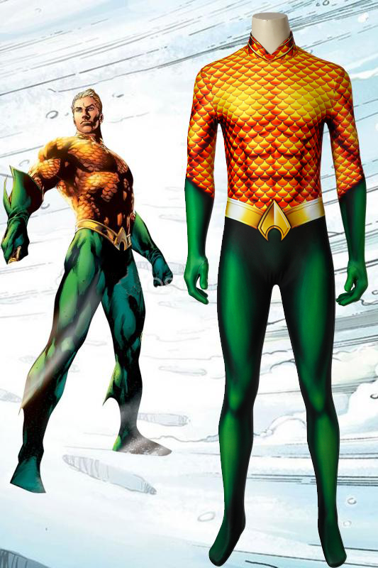 New Aquaman Arthur Curry Jumpsuit Cosplay Costume