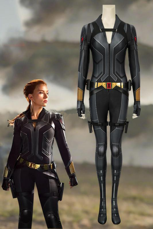 Black Widow Natasha Romanoff Black Jumpsuit
