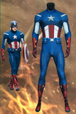 The Avengers 1 Captain America Steven Rogers Jumpsuit