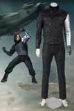 Marvel Captain America Civil War Winter Soldier James Buchanan Bucky Barnes Cosplay Costume