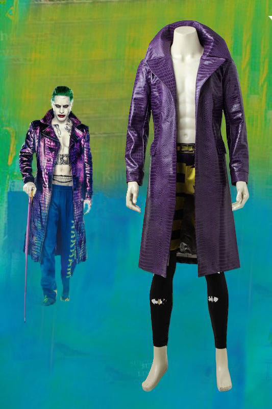 DC 2016 Movie Batman Suicide Squad Task Force X Joker Cosplay Costume Upgraded