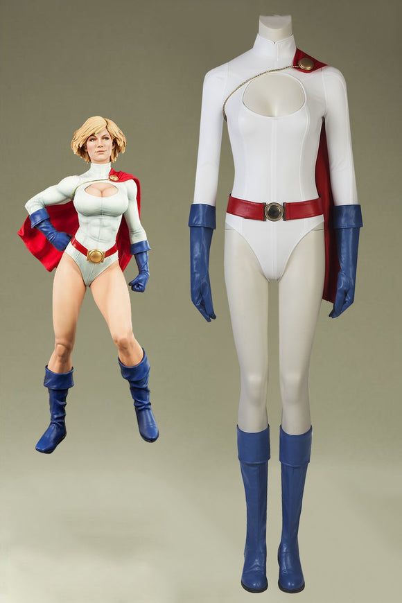 DC Comics Power Girl Earth-Two Kara Zor-L Cosplay Costume With Boots