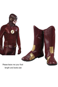 DC The Flash Barry Allen Cosplay Boots Accessory Adult