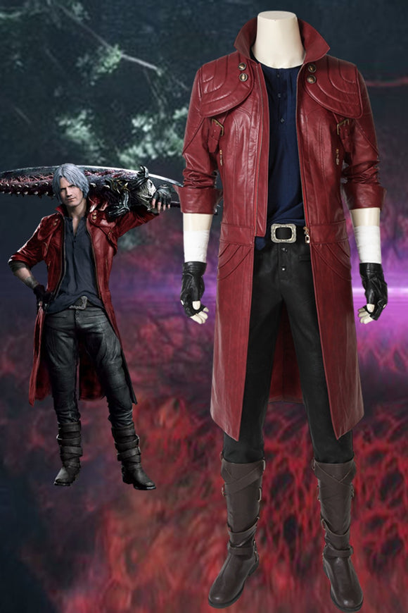 Devil May Cry 5 Devil Hunter Dante Cosplay Costume