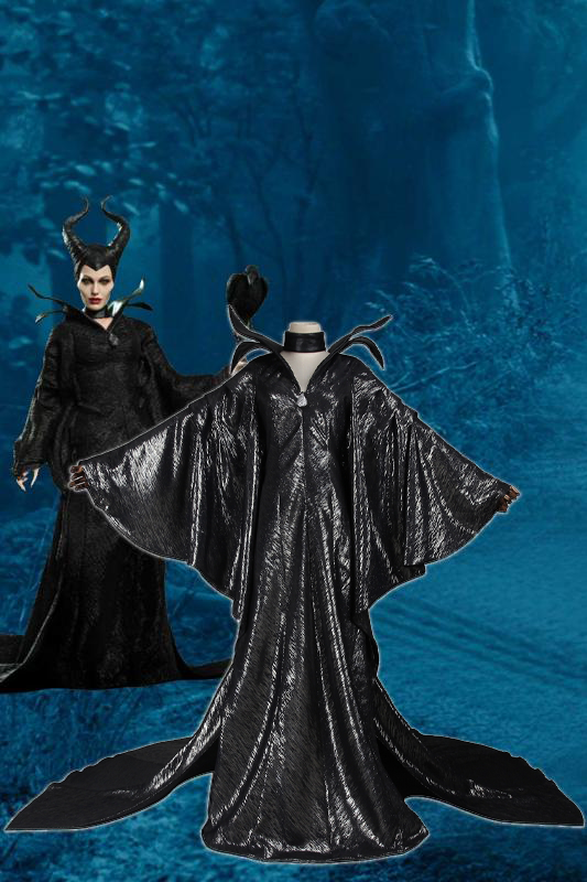 Disney Movie Maleficent Angelina Jolie Cosplay Costume