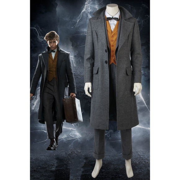 Fantastic Beasts The Crimes Of Grindelwald Newt Scamander Cosplay Costumes