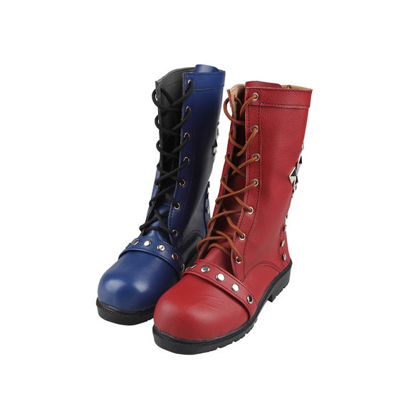 Game Batman Arkham Knight Harley Quinn Cosplay Boots