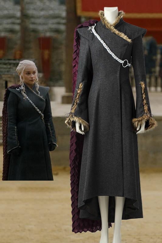 Game Of Thrones Season 7 Daenerys Targaryen Fancy Dress Cosplay Costume With Boots