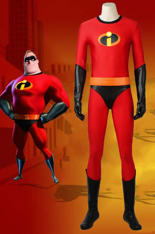 The Incredibles 2 Bob Parr Mr. Incredible Cosplay Costume With Boots