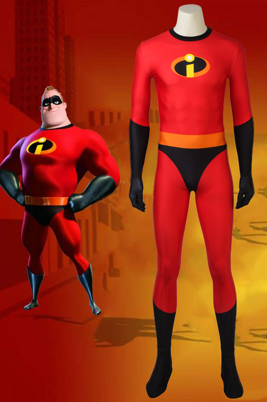 Incredibles 2 Mr. Incredible Bob Parr Cosplay Costume 40D Jumpsuit