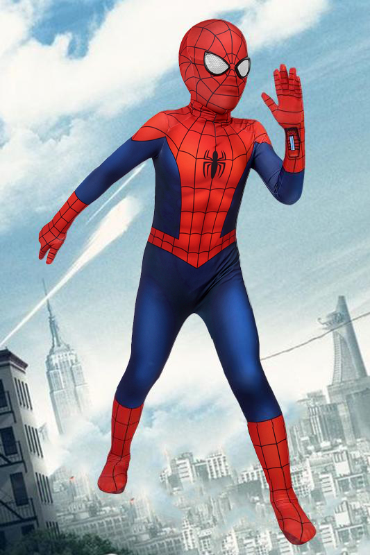 Ultimate Spiderman Season 1 Peter Parker Jumpsuit For Kids