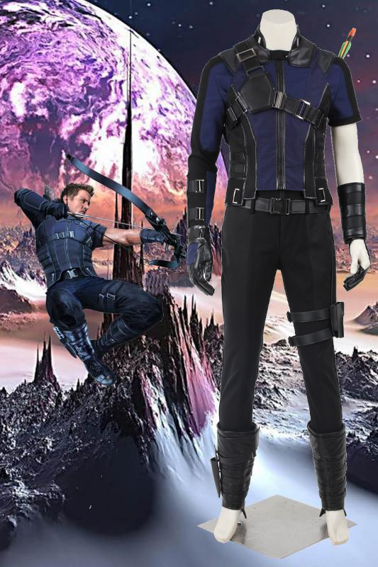 Marvel Captain America 3 Civil War Hawkeye Clinton Francis Barton Blue Cosplay Costume