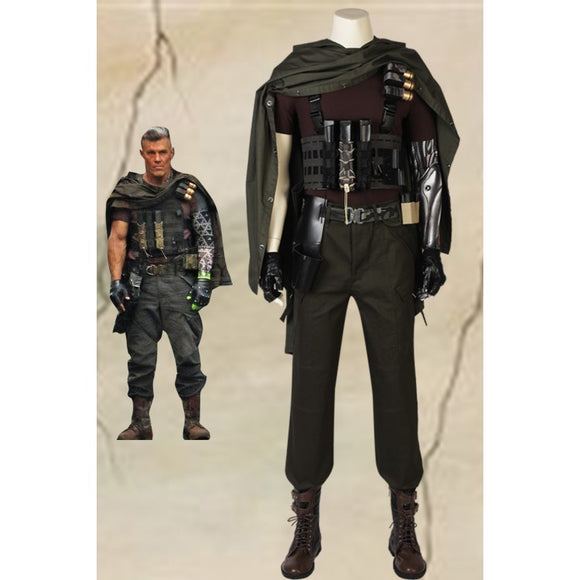 Marvel Deadpool 2 Nathan Christopher Charles Summers Cable Cosplay Costume With Boots
