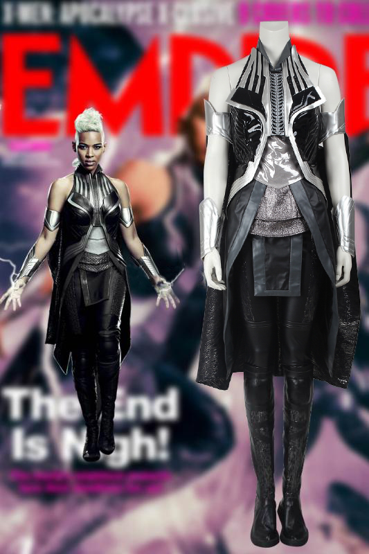 Marvel X-Men: Apocalypse X Men Storm Ororo Munroe Cosplay Costume With Boots