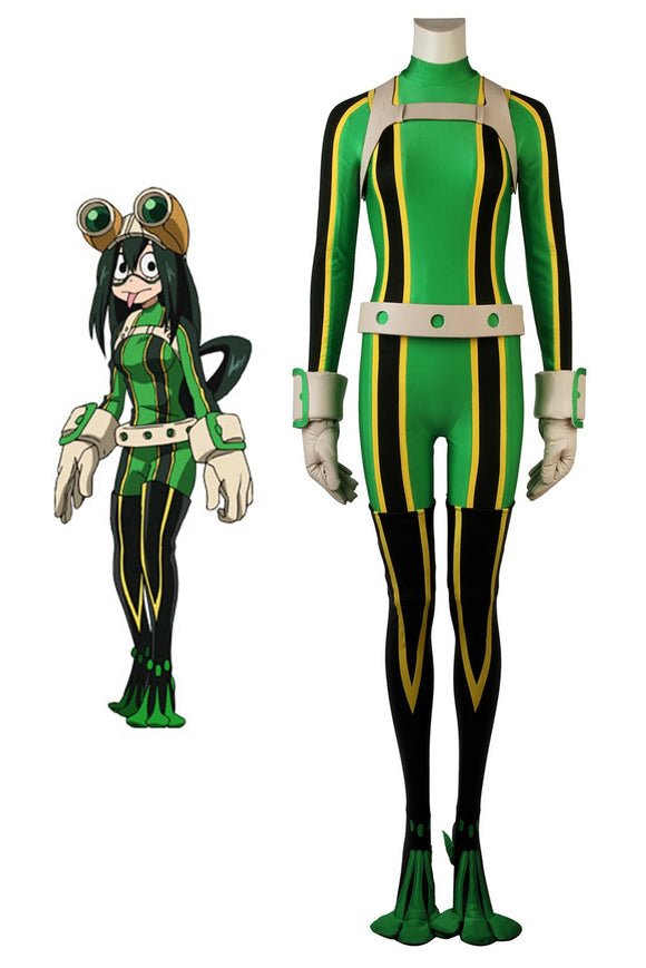 My Hero Academia Tsuyu Asui Cosplay Costume Hero Costume