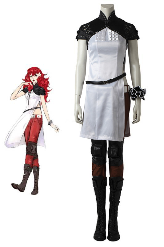 NieR: Automata Devola Cosplay Costume White Dress