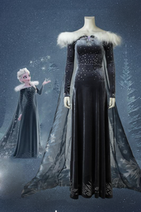 Olaf's Frozen Adventure Anime Elsa Cosplay Costume