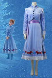 Olaf's Frozen Adventure Anime Anna Cosplay Costume