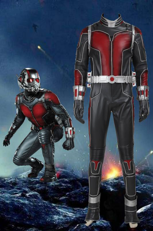 Movie Ant-Man Scott Lang Cosplay Costume Jumpsuit With Helmet