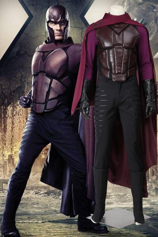 Marvel X-Men: Days Of Future Past Erik Lehnsherr Magneto Cosplay