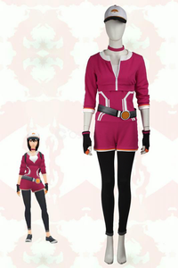 Pokemon Go Rosybrown Team Trainer Uniform Cosplay Costume For Women With Hat