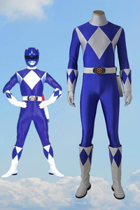 Mighty Morphin' Power Rangers Dan Tricera Ranger Cosplay Costume With Boots