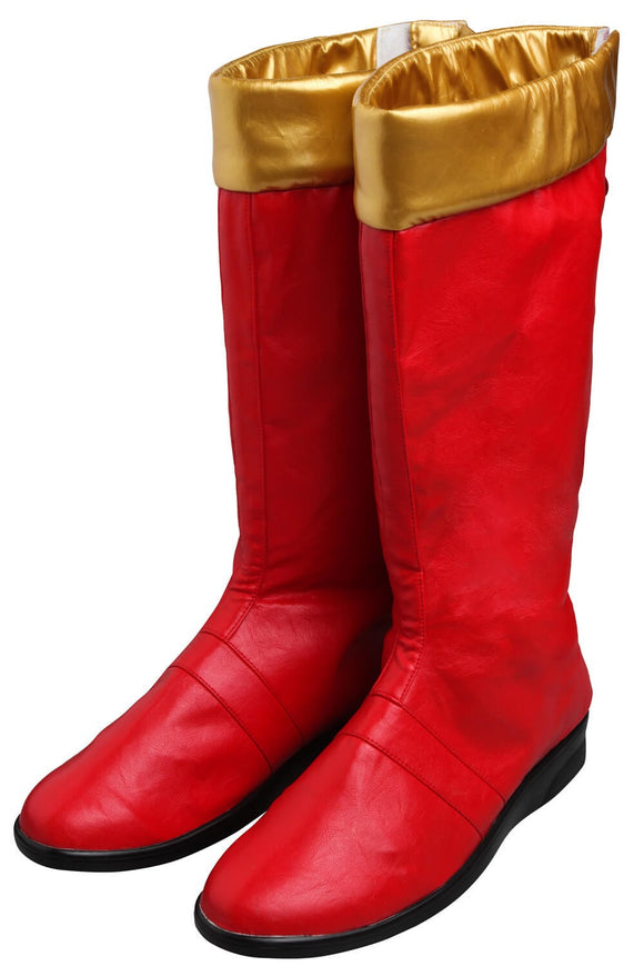 Power Rangers DinoThunder AbareRed Connor Cosplay Boots