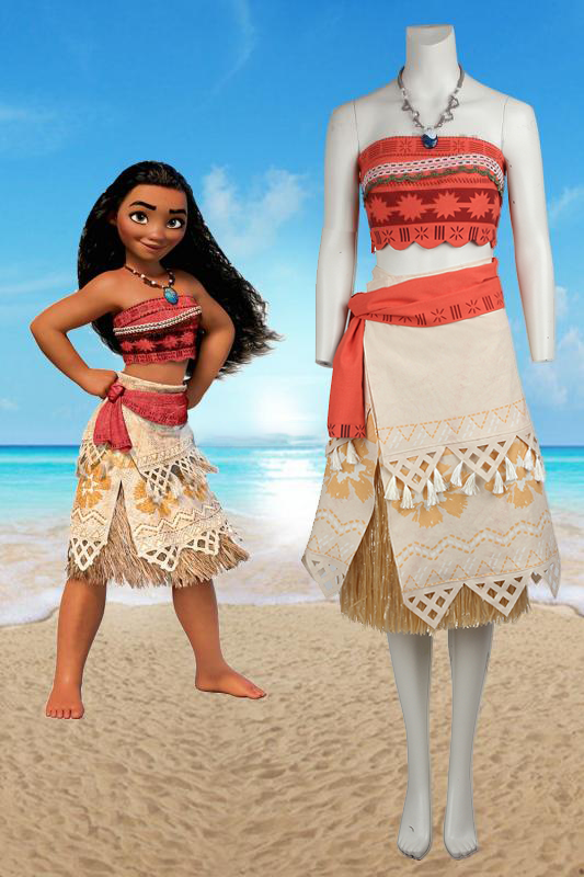Disney Animation Princess Moana Cosplay Costume