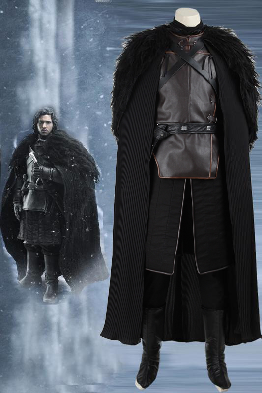 Game Of Thrones Jon Snow Cosplay Costume Full Set