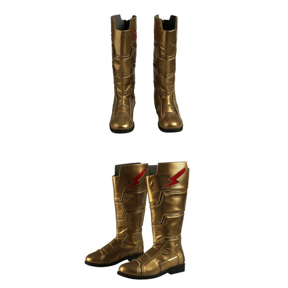 Shazam! Billy Batson Superhero Shazam Cosplay Boots
