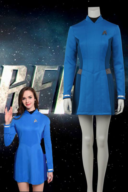 Star Trek Beyond Carol Marcus Blue Dress Cosplay Costume