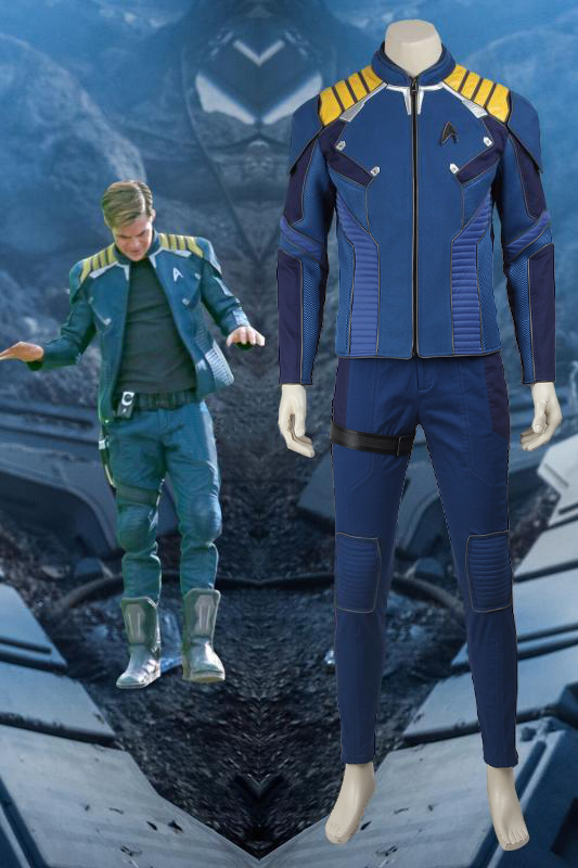Star Trek Beyond James Tiberius Kirk Jim Commander Captain Cosplay Costume With Boots
