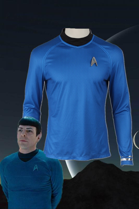 Star Trek Into Darkness Leonard H. McCoy Bones Spock Blue Top Cosplay Costume