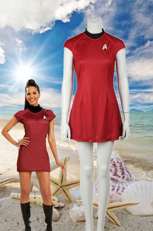 Star Trek Into Darkness Nyota Uhura Red Dress Cosplay Costume