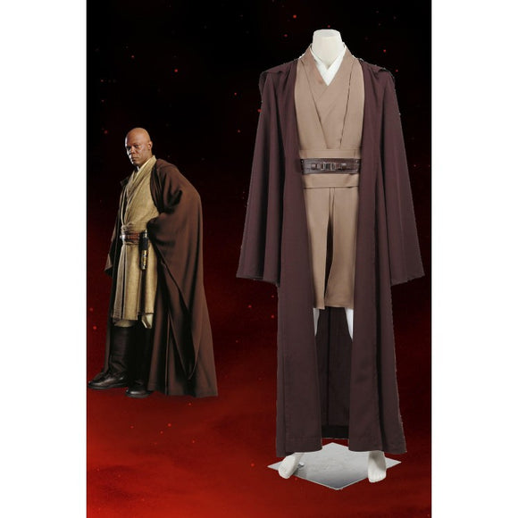 Star Wars Jedi Knight Obi-Wan Kenobi Cosplay Costume With Cloak