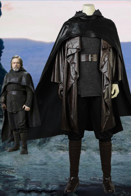 Star Wars: The Last Jedi Luke Skywalker Cosplay Costume With Boots
