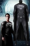 Justice League Clark Kent Superman Black Jumpsuit With Cape