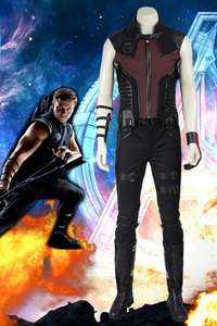 Marvel The Avengers Hawkeye Clinton Francis Barton Cosplay Costume With Boots