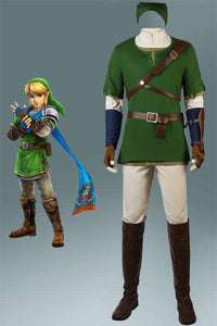 The Legend Of Zelda Twilight Princess Link Cosplay Costumes With Boots