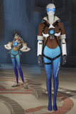 Game Overwatch OW Tracer Lena Oxton Blue Cosplay Costume