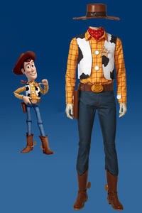Disney Toy Story Sheriff Woody Cowboy Cosplay Costumes With Boots